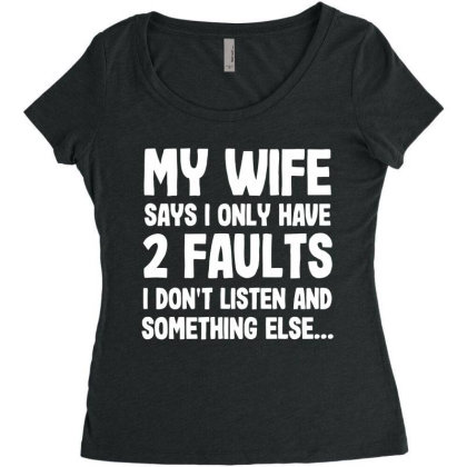 My Wife Typography Women's Triblend Scoop T-shirt Designed By Pinkanzee