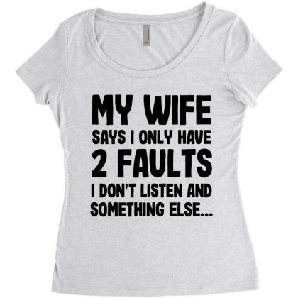 My Wife Quote Women's Triblend Scoop T-shirt Designed By Pinkanzee