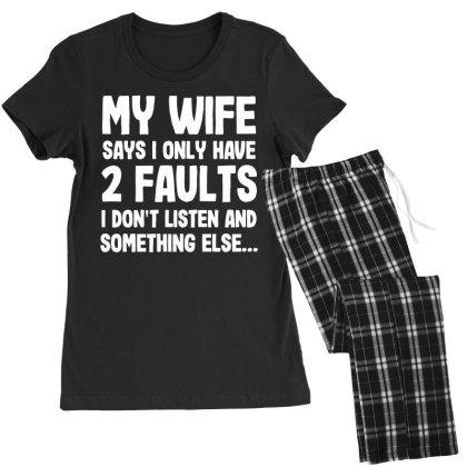 My Wife Typography Women's Pajamas Set Designed By Pinkanzee