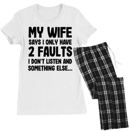 My Wife Quote Women's Pajamas Set Designed By Pinkanzee