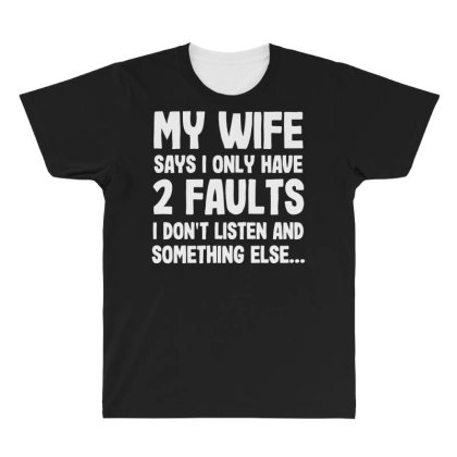 My Wife Typography All Over Men's T-shirt Designed By Pinkanzee