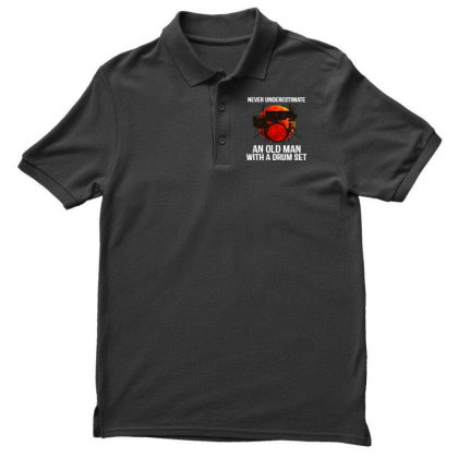 Never Underestimate A Drum Men's Polo Shirt Designed By Pinkanzee