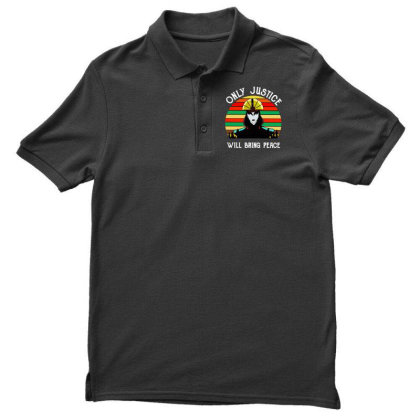 Peace Vintage Men's Polo Shirt Designed By Pinkanzee