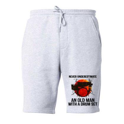 Never Underestimate A Drum Fleece Short Designed By Pinkanzee