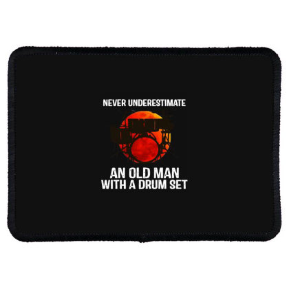 Never Underestimate A Drum Rectangle Patch Designed By Pinkanzee