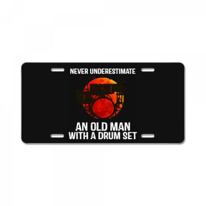 Never Underestimate A Drum License Plate Designed By Pinkanzee