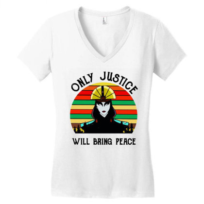 Peace Vintage Women's V-neck T-shirt Designed By Pinkanzee