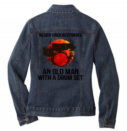 Never Underestimate A Drum Ladies Denim Jacket Designed By Pinkanzee