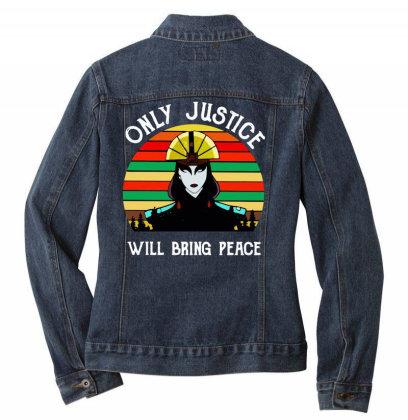 Peace Vintage Ladies Denim Jacket Designed By Pinkanzee