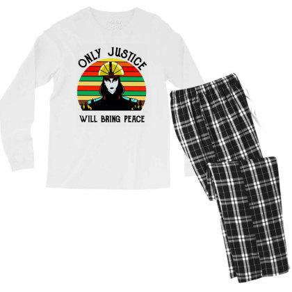 Peace Vintage Men's Long Sleeve Pajama Set Designed By Pinkanzee