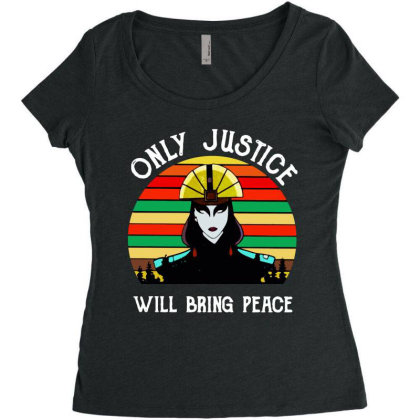 Peace Vintage Women's Triblend Scoop T-shirt Designed By Pinkanzee