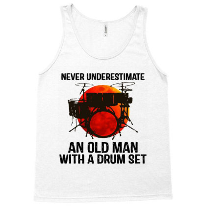 Never Underestimate A Drum Tank Top Designed By Pinkanzee