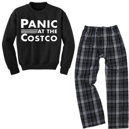 Logo Band Youth Sweatshirt Pajama Set Designed By Pinkanzee