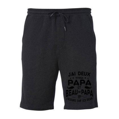 Papa Et Beau Fleece Short Designed By Pinkanzee