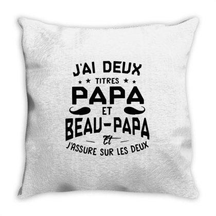 Papa Et Beau Throw Pillow Designed By Pinkanzee