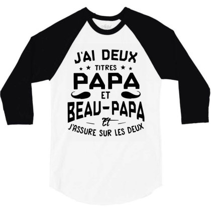 Papa Et Beau 3/4 Sleeve Shirt Designed By Pinkanzee