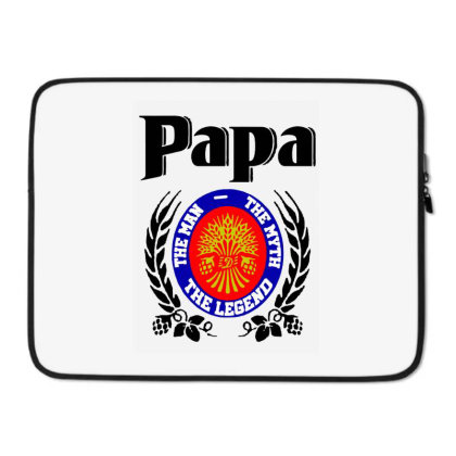 Papa Quote Laptop Sleeve Designed By Pinkanzee