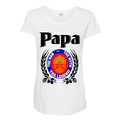 Papa Quote Maternity Scoop Neck T-shirt Designed By Pinkanzee