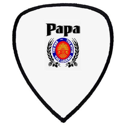 Papa Quote Shield S Patch Designed By Pinkanzee