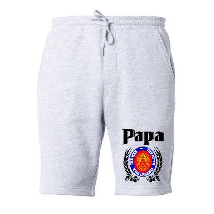 Papa Quote Fleece Short Designed By Pinkanzee