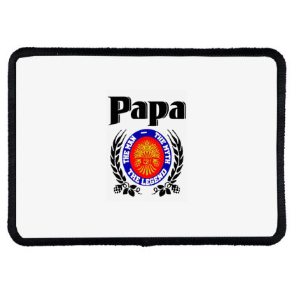 Papa Quote Rectangle Patch Designed By Pinkanzee