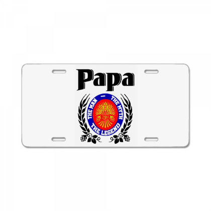 Papa Quote License Plate Designed By Pinkanzee