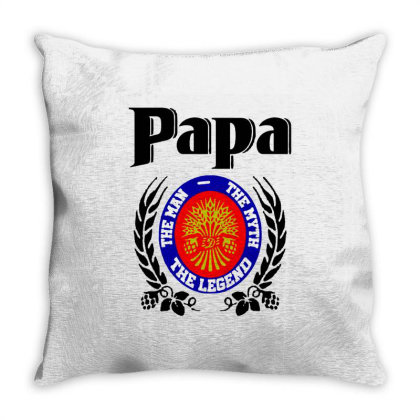 Papa Quote Throw Pillow Designed By Pinkanzee