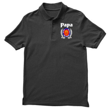Papa The Man Men's Polo Shirt Designed By Pinkanzee
