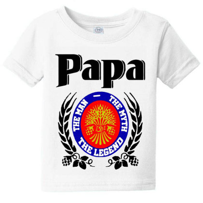 Papa Quote Baby Tee Designed By Pinkanzee