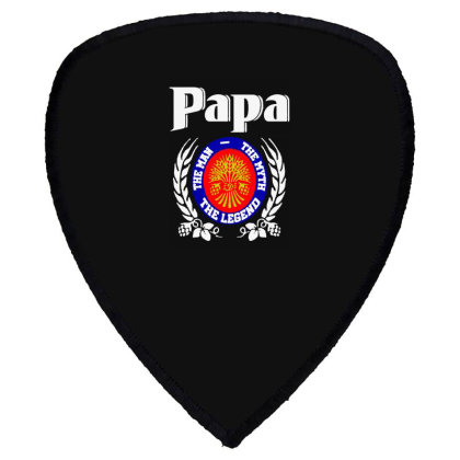 Papa The Man Shield S Patch Designed By Pinkanzee