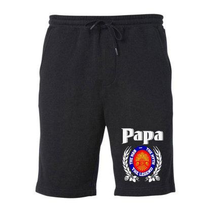 Papa The Man Fleece Short Designed By Pinkanzee