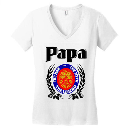 Papa Quote Women's V-neck T-shirt Designed By Pinkanzee