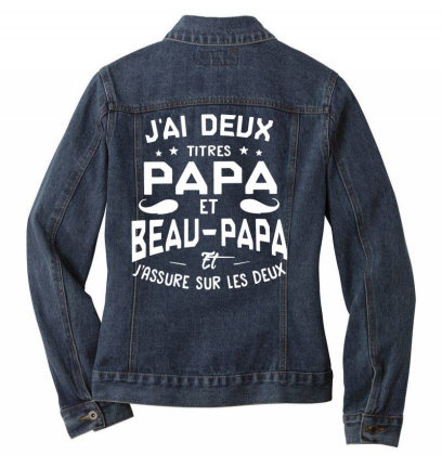 Papa Et Beau Ladies Denim Jacket Designed By Pinkanzee