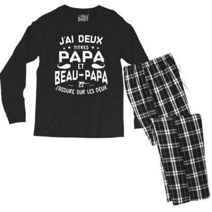 Papa Et Beau Men's Long Sleeve Pajama Set Designed By Pinkanzee