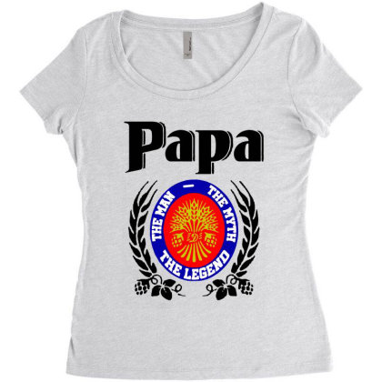 Papa Quote Women's Triblend Scoop T-shirt Designed By Pinkanzee