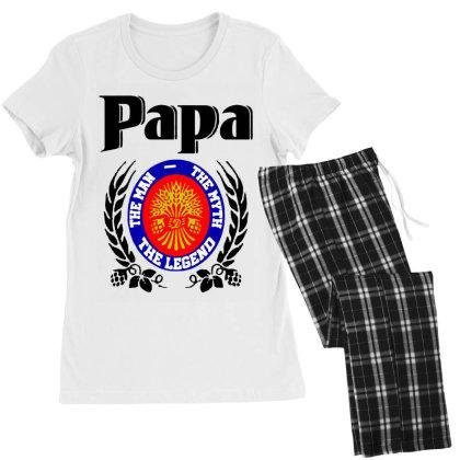 Papa Quote Women's Pajamas Set Designed By Pinkanzee