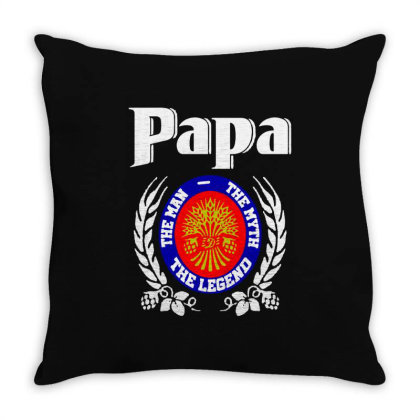 Papa The Man Throw Pillow Designed By Pinkanzee