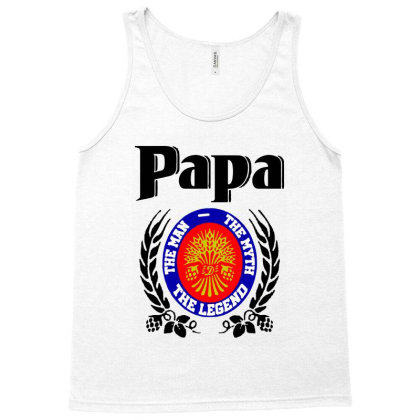 Papa Quote Tank Top Designed By Pinkanzee