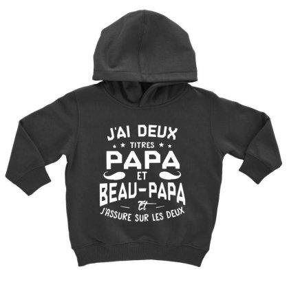 Papa Et Beau Toddler Hoodie Designed By Pinkanzee