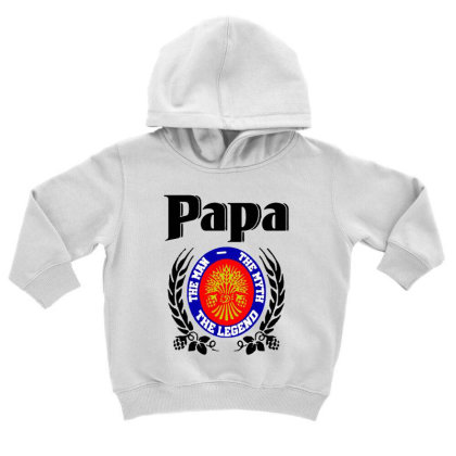 Papa Quote Toddler Hoodie Designed By Pinkanzee