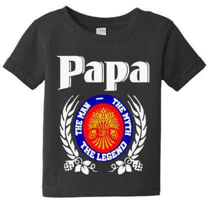 Papa The Man Baby Tee Designed By Pinkanzee