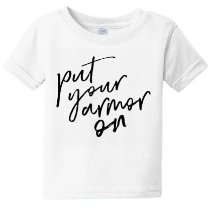 Armor On Baby Tee Designed By Pinkanzee