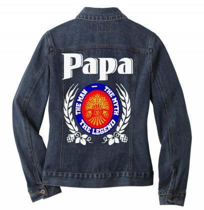 Papa The Man Ladies Denim Jacket Designed By Pinkanzee