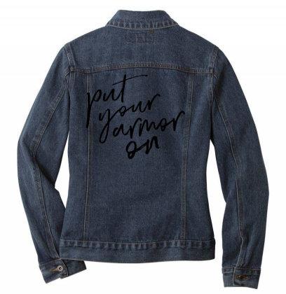 Armor On Ladies Denim Jacket Designed By Pinkanzee