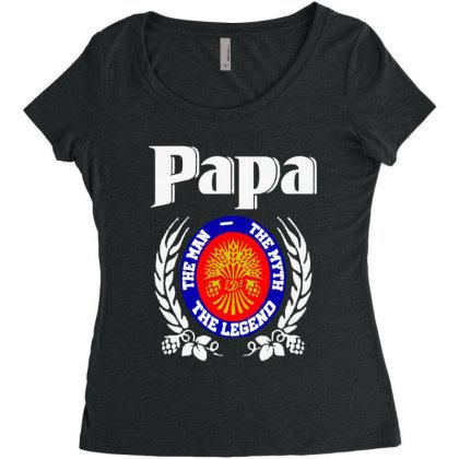 Papa The Man Women's Triblend Scoop T-shirt Designed By Pinkanzee