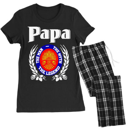 Papa The Man Women's Pajamas Set Designed By Pinkanzee