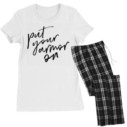 Armor On Women's Pajamas Set Designed By Pinkanzee