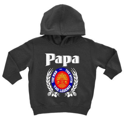 Papa The Man Toddler Hoodie Designed By Pinkanzee