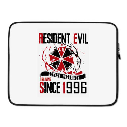Social Distance Laptop Sleeve Designed By Pinkanzee