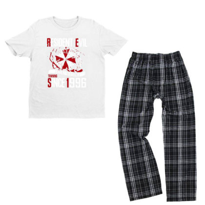 Social Distance Youth T-shirt Pajama Set Designed By Pinkanzee